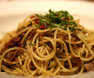 delicious, dinner, and spaghetti image
