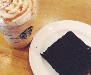 frappe, starbucks, and love image
