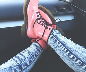 boots, dm, and pink image