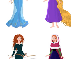 anna, merida, and rapunzel image