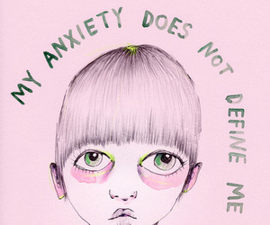 anxiety, pink, and define image