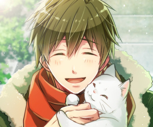 anime, cat, and makoto image