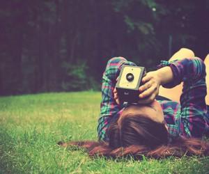 girl, camera, and photo image