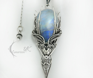 moonstone, necklace, and silver image