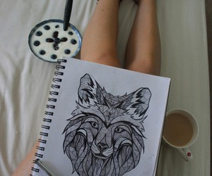 tattoo, drawing, and art image