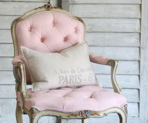 chair, pink, and interior image