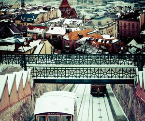 budapest, winter, and snow image