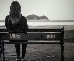alone, miss you, and black and white image