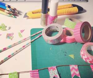 birthday, party, and washi tape image