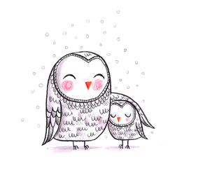 owl illustration and cute owl image