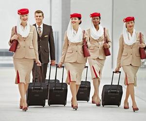 airline, stewardess, and UAE image