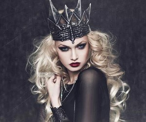 Queen, dark, and black image