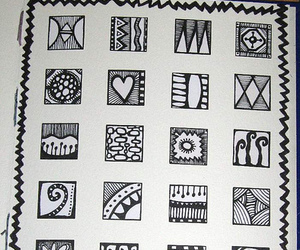 patterns, ink drawings, and zentangles image