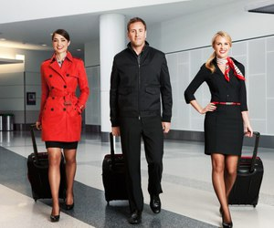 airline, flight attendant, and stewardess image