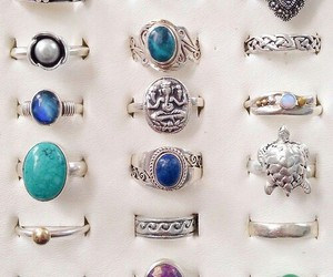 rings, silver, and blue image