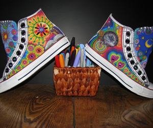 colour, converse, and sharpie art image