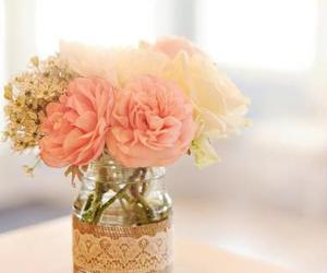 flowers, pink, and vase image