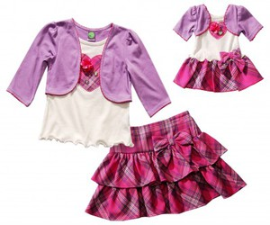 matching outfits, sportswear for girls, and doll cloths image