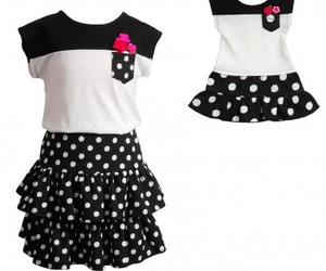 matching outfit, doll cloths, and sportswear for girls image