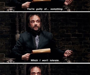 supernatural, crowley, and king of hell image