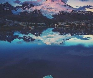 mountains, photography, and water image