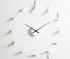 clock, bird, and time image