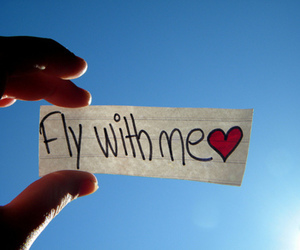 fly, heart, and quotes image