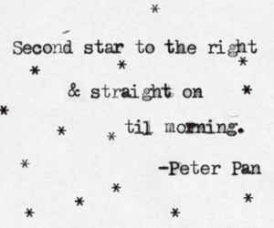 peter pan, stars, and quotes image