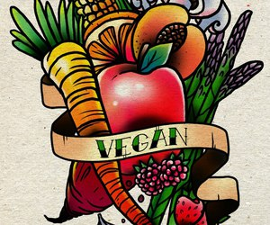 colorful, draw, and veg image