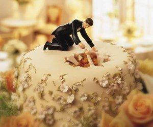 cake, wedding, and funny image