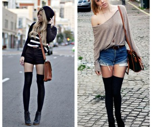 black, fashion, and hot pants image