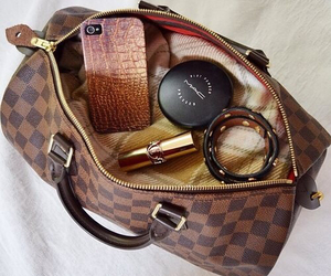 hand bag, iphone, and luxury image