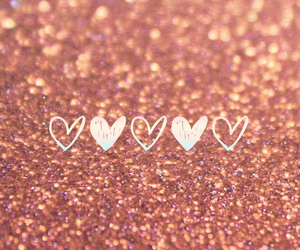 wallpaper, glitter, and hearts image