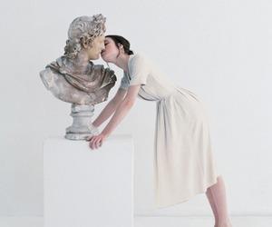 art, kiss, and white image