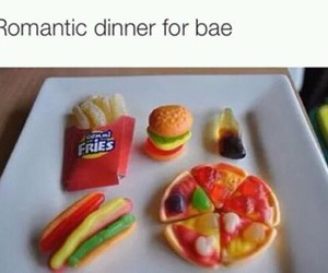 romantic, food, and funny image