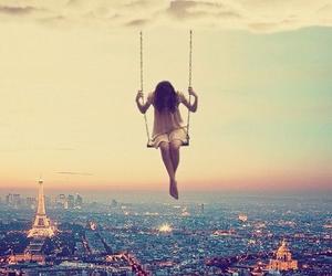 paris, girl, and sky image