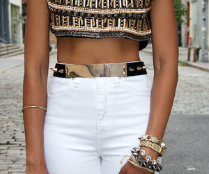 fashion, gold, and style image