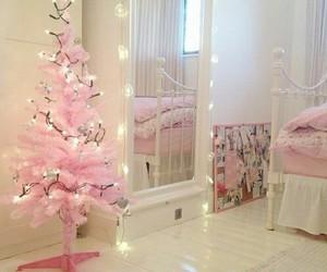 pink, christmas, and room image