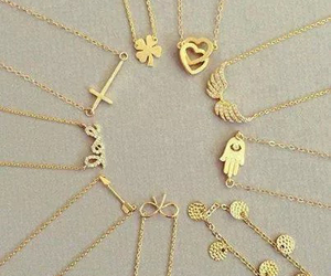 necklace, accessories, and gold image