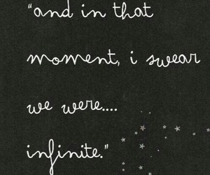 quote, infinite, and stars image