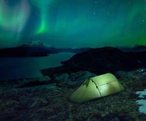 blue and green, camping, and night sky image