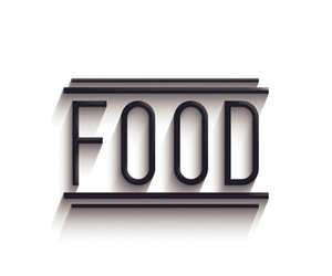 food and black image