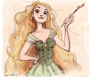 rapunzel, disney, and drawing image