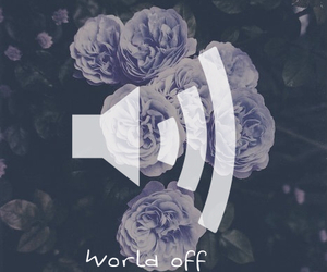 music, world, and flowers image