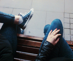 bff, converse, and girls image