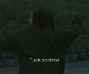 people, society, and alone image