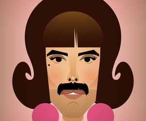 Queen, art, and Freddie Mercury image
