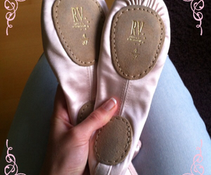 ballet slippers, girly, and pink image