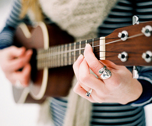 guitar, photography, and music image