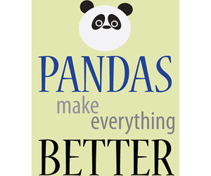 life, panda, and quote image